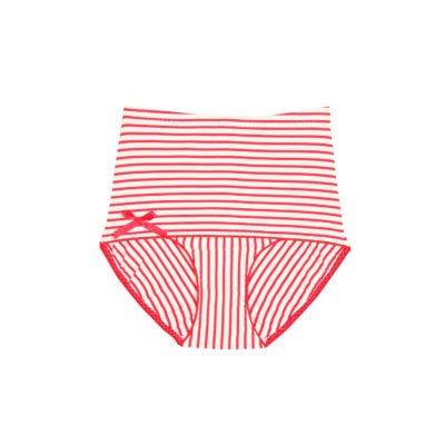 maillot-ideale-raye-rouge