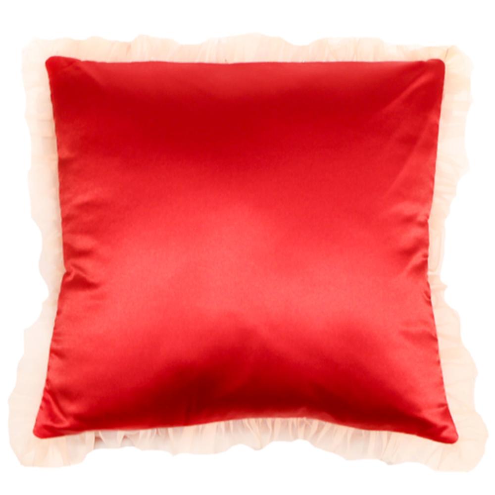 coussin satin de soie rouge fifi chachnil site officiel. Black Bedroom Furniture Sets. Home Design Ideas